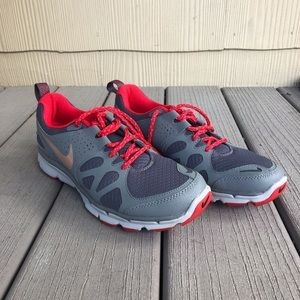 Grey and Red Nike Sneakers